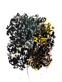 Botanical Shadow 2, 15 x 11 inches, acrylic ink on paper, 2016