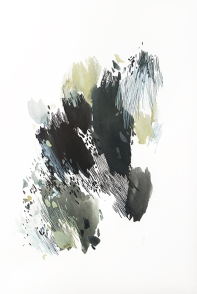 Under The Shade 2, 15 x 11 inches, acrylic ink on paper, 2017
