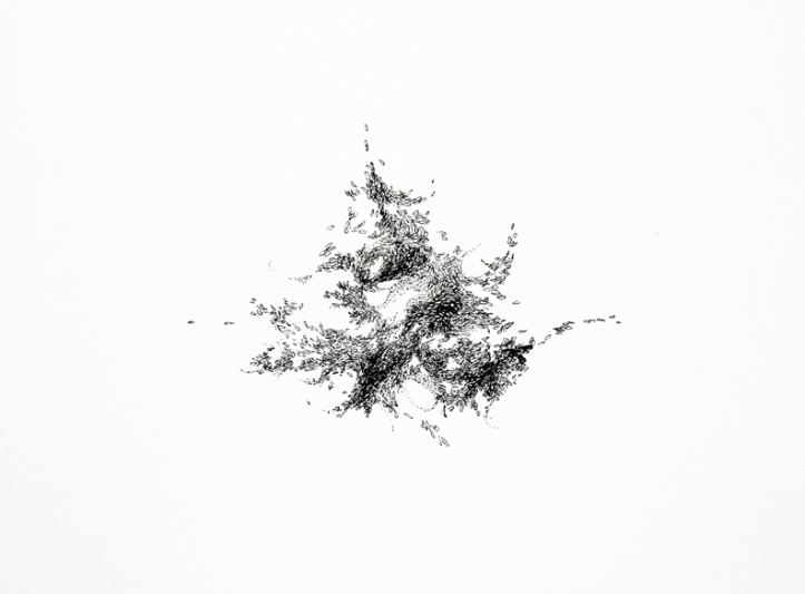 SOLD // Small Moves 2, ink on paper, 6 x 8 inches, 2009